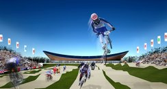 bmx track at the 2012 velodrome