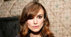 Actress Keira Knightley attends a party