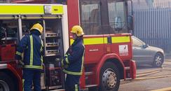 It took around 40 firefighters to bring the fire in Culliford Crescent under control