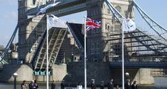 olympic and paralympic flag raised at City Hall