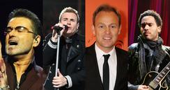 George Michael, Gary Barlow, Jason Donovan, Lenny