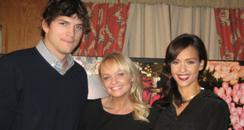 Emma Bunton, Ashton Kutcher and Jessica Alba