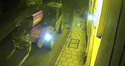 Stolen forklift truck