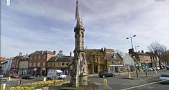 Banbury Cross on Google StreetView