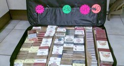 Cigarettes being sold at a car boot fare