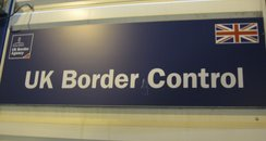 Sign of UK Border Control