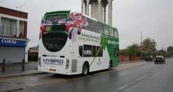 Hybrid bus in Reading