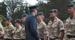 RAF officers handed medals at Wittering