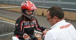 8 year old Katie gets a throttle lesson