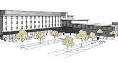 Artists impression of new Hilton hotel