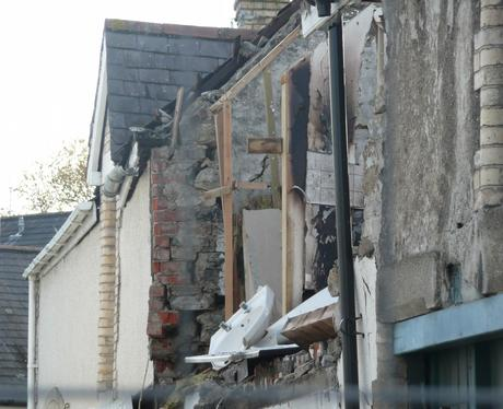 Aftermath of the Barnstaple explosion