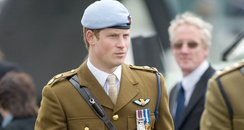 Prince Harry wears his Army Flying Corps blue bere