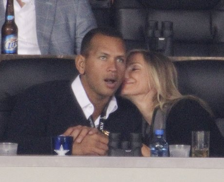 Alex Rodriguez and Cameron Diaz at Super Bowl XLV