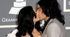 Katy Perry and Russell Brand at the Grammy Awards