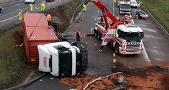 M1 lorry crash 15 Feb 2011