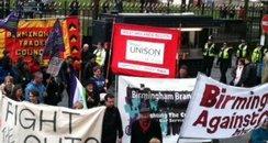 Birmingham cuts protest
