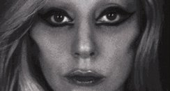 Lady Gaga with eyeliner on