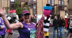 Susie running the London Marathon in 2008