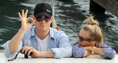 Michael Buble on honeymoon