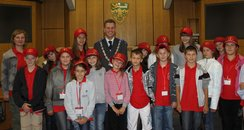 children from belarus visit ashford's mayor