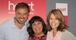 Dawn French with Jamie Theakston and Harriet Scott