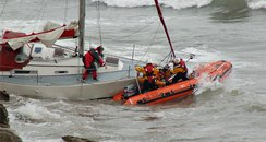 The sailor got into trouble in rough seas - like in this photo