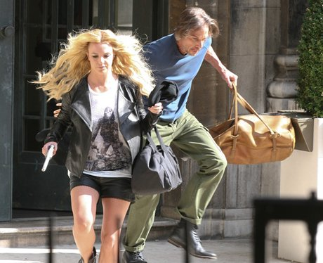 Britney Spears seen filming her new video in Londo