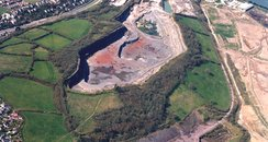 Aerial view of Plymstock quarry