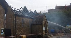 The Victorian building was badly damaged
