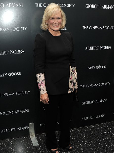 Glenn Close arrives at a screening