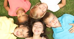 Group of smiling children