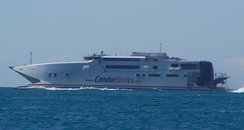 While repair work is underway, Condor Ferries is sailing into Poole instead of Weymouth - losing the town money
