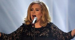 Adele perfomrs at the BRITS