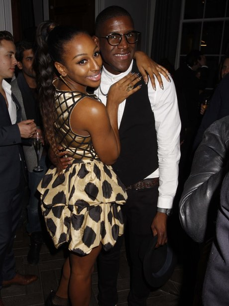Alexandra Burke and Labrinth at the BRIT Awards 20