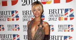 Rihanna attends the BRIT Awards 2012