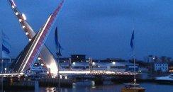 Twin Sails Bridge in Poole