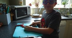 Cooking with goggles