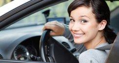 Pretty Girl In Car