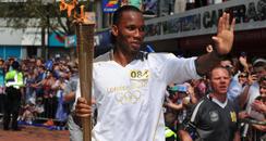 Didier Drogba Swindon Torchbearer