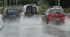 Cars in flood