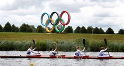 Olympic Torch on Eton Dorney Lake
