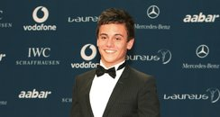 Tom Daley wearing a suit
