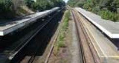 Tracks at Pokesdown Station,Boscombe