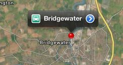 Bridgwater iPhone Maps
