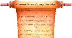 10 Commandments of Using Your Phone