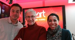 Paul O'Grady with Jamie and Margherita