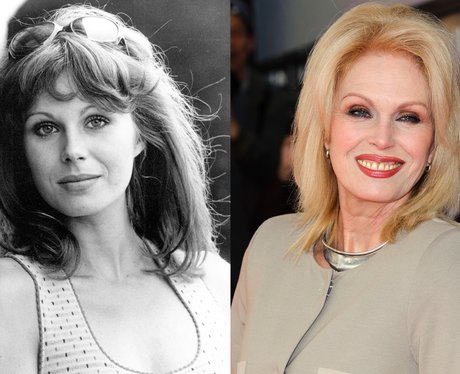 A young Joanna Lumley and Joanna Lumley age 66