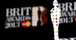 Brit Awards 2013 Stutue and Backdrop