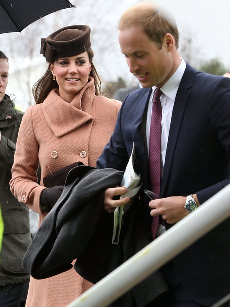 Prince William and Kate Middleton visit Cheltenham