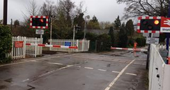 Shiplake crossing barriers